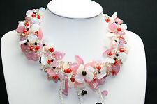 Florales böhmischen Hochzeitscollier