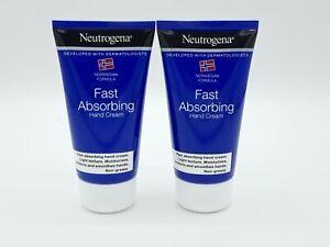Neutrogena Hand Care Fast Absorbing Hand Cream 75ml - Light Texture (2 x 75ml)