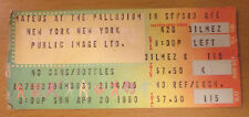 1980 Public Image Ltd. Pil Palladium New York City Concert Ticket Sex Pistols