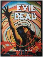 EVIL DEAD Affiche Cinéma Pliée 53x40 Movie Poster Sam Raimi Retirage 1990