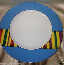 "ESCHENBACH GERMANY 135 LIVING COLOURS 11 1/2"" DINNER PLATE BLUE RIM"