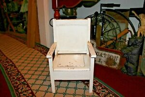 Antique Wood Toilet Child's Potty Seat Commode Furniture Country Decor Rustic
