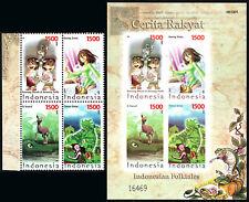 Indonesia 2084 Bl/4, 2084e S/s, MNH. Falktales, 2006