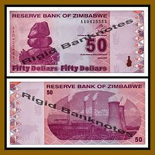 Zimbabwe 50 Dollars, 2009 P-96 Revised Trillion Unc