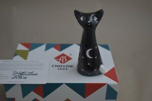 Cmielow Twilight Cat Porcelain Figurine. Boxed with Certificate
