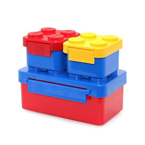 3 Compartments Lunch Box For Kids Adults Food Container Set Storage Boxes