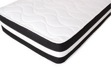 """Small Single 2ft6"""" 75x190cm,Memory Foam Spring Mattress, 3D Ortho Quilted Sprung"""