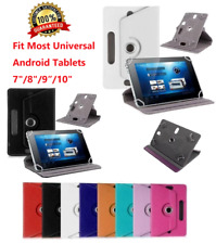 "For Universal Android Tablets 7"" 8"" 9"" 10"" 10.1"" Folio Leather Case Cover 360°"