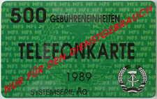 Scherzartikel Fake DDR Telefonkarte vom MfS