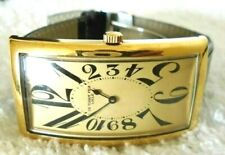 Vintage CH.TISSOT FILS LOCLE unisex gold plated watch croco embossed band WORKS!
