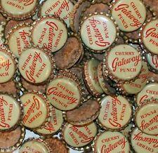 Soda pop bottle caps Lot of 25 GATEWAY CHERRY cork lined unused new old stock
