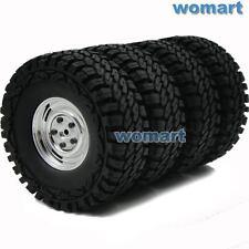 4pcs RC 1/10 1.9inch Crawler Off Road Tires Tyres 115mm w/ Hex 12mm Wheels Rims