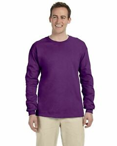Gildan Men's Long Sleeve Ultra Cotton T-Shirt 2400 S-5XL Choose Color/Size Crew