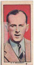 Air Racing Pilot H.F. Broadbent Flying Aircraft 1930s Trade Ad Card