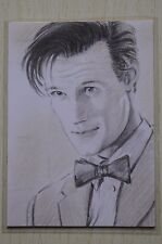 DR WHO 11TH DOCTOR (MATT SMITH) COMMISSIONED SKETCH CARD BY Wu Wei 2011