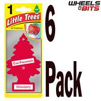 6 x Magic Tree Strawberry Scent Little Trees Car Home Air Freshener Freshner