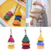 Boho Multilayer Tassel Dangle Pendant Keyring Keychain Handbag Decor Acces