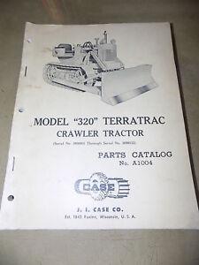 J.I. Case Model 320 Terratrac Crawler Tractor Parts Catalog_ORIG ca.1961
