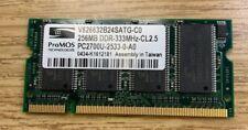 ProMOS 256MB DDR-333MHz-CL2.5 PC-2700U V826632B24SATG-C0 Laptop Memory RAM DDR