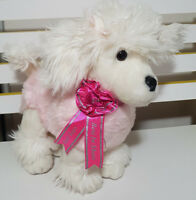 KORIMCO KEEL TOYS SHOW POODLE PLUSH TOY! SOFT TOY ABOUT 27CM TALL KIDS TOY!