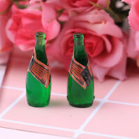 2Pcs dollhouse wine bulk miniature scene bar paris water accessories