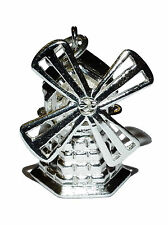 "Sterling Silver Patterned ""WINDMILL"" Charm/Pendant with Spinning Blades"