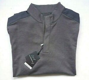 Greg Norman Golf Men's L/G Essence 1/4-Zip Longsleeve Gray Pullover Warm-Up Top