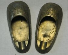 Antique Brass Slippers Ash Trays From India Unique and Quite Interesting