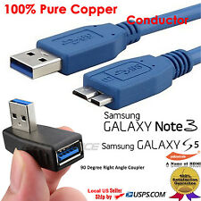 SuperSpeed USB 3.0 Type A to Micro-B Cab+Right Angle USB 3.0 Male-Female Adapter