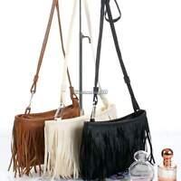 Suede Tassel Fringe Crossbody Shoulder Handbag Women Messenger Bag Purse Tote CH
