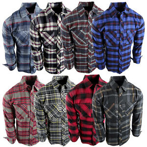 Flannel Plaid Shirt Mens Western Button Pockets 8 New Cool Colors Long Sleeve c