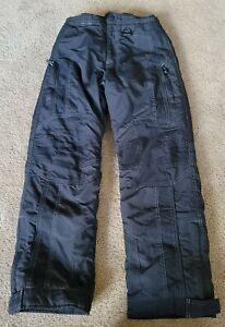 LL Bean Boys Snow Ski Insulated Pants size 10 Black Elastic Waist Thinsulate EUC