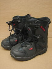 New NOS Zuma Junior Black Snowboard Boots US 5 /  Mondo 24.0