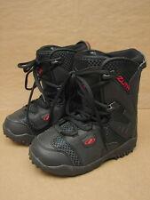 New NOS Zuma Junior Black Snowboard Boots US 5 /  Mondo 24.0