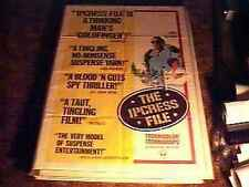 IPCRESS FILE MOVIE POSTER '65 MICHAEL CAINE