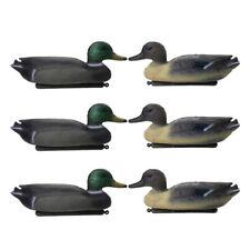 6 Pcs Lifelike 3D Male Hunting Shooting Fake Bird Duck Decoy Mallard Drake