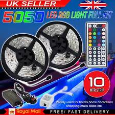 10M RGB 5050 LED Strip Lights With IR Remote Back Light 12V USB Colour Changing