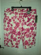 Counterparts Slimming Sensations Womens Pink/Floral Shorts Size 14 New