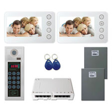 """Multi Tenant Security Door Video Intercom System Kit with (2) 5"""" Color Monitors"""