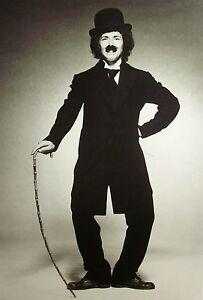 BILLIE JEAN KING as Charlie Chaplin clipping 1973 tennis B&W photos WTA Tour