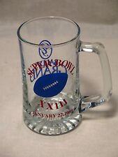 Super Bowl XXIII Glass Beer Mug ~ San Francisco 49ers ~ Cincinnati Bengals ~RARE