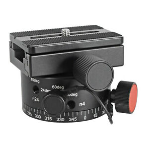 Koolehaoda Panoramic Tripod Head Indexing Rotator with Compatible for Arca Swiss