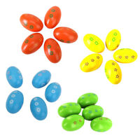 20Pcs Wooden Eggs Maracas Shakers Kids Children Musical Percussion Toys Gift