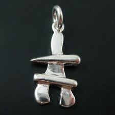 925 Sterling Silver Detailed Inukshuk Charm- Inukshuk Pendant-17 by 10mm (1 pc)
