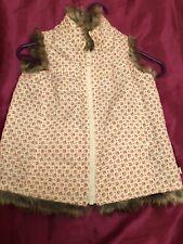 Kids Children Girls GAP Reversible Faux Fur Body warmer Waist Coat Size 4 Years
