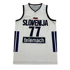 XL Luka Doncic #77 Team Slovenija Slovenia Basketball Jersey Stitched