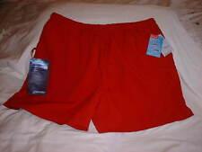 ST. JOHN'S BAY Adult Men's SWIM TRUNKS XL Lined Scarlet Red w/ Saf-T Wallet NWT