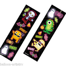 8 Boo Buddies Monsters Halloween Party Loot Favours Gifts Stickers Sheets Strips