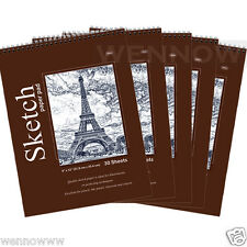 Quality Sketch Paper Book Pad, 9 x 12 inches, Top Bound Each 30 Sheets, 5 Pcs
