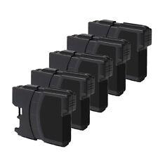 5 PK BLACK Print Ink fits Brother LC61 MFC-J220 MFC-J265W MFC-J270W MFC-J410W